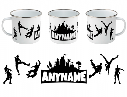 Fortnite Dance Emotes Personalised Enamel Mug